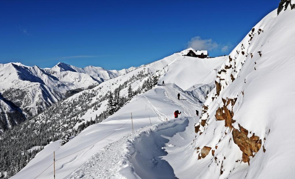 Walking to Super Bowl, Kicking Horse Mountain Resort