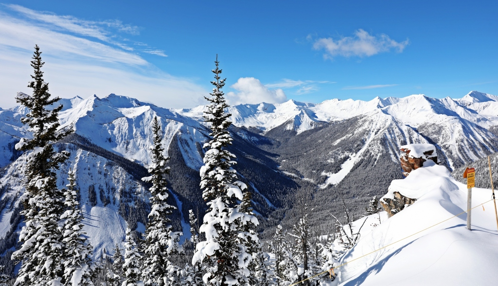 View from Super Bowl, Kicking Horse Mountain Resort