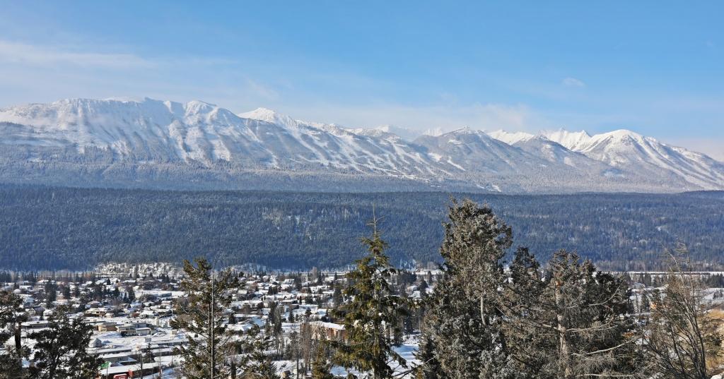 Golden below Kicking Horse Mountain Resort