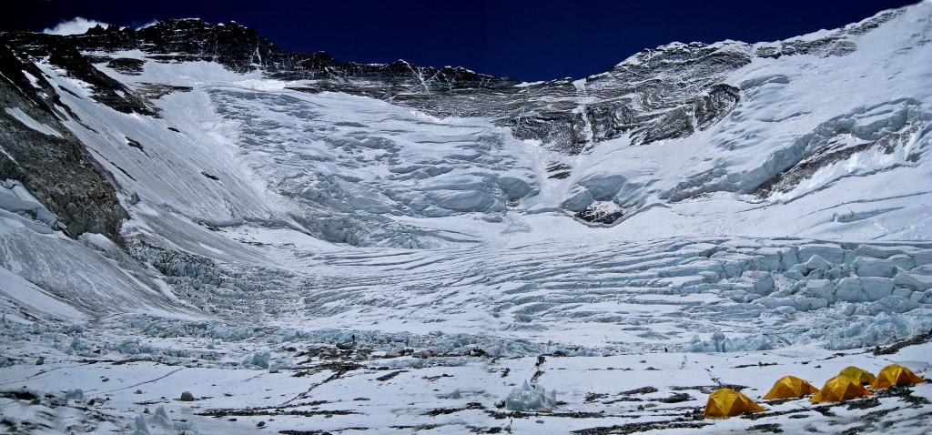 Lhotse face (Left), Camp II, Everest