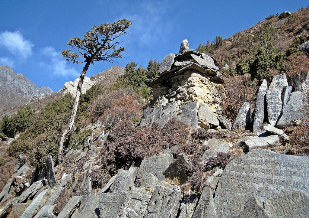 Mani stones, Everest region