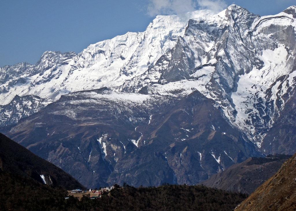 View of Tengboche from above, Everest region