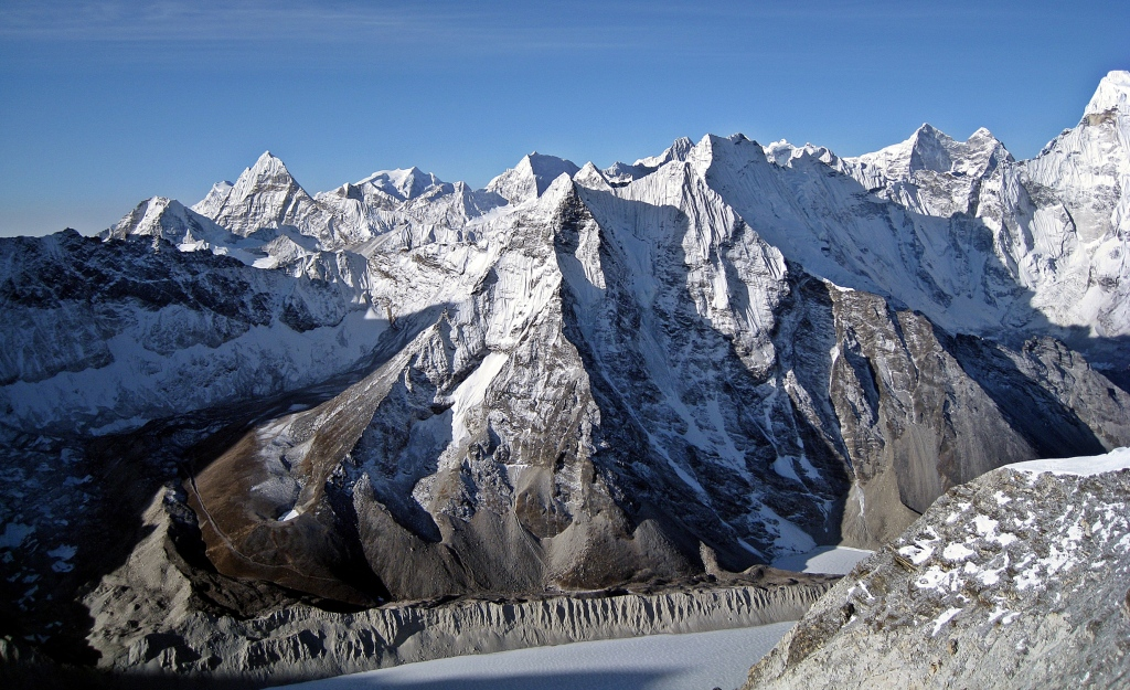 View from Island Peak summit