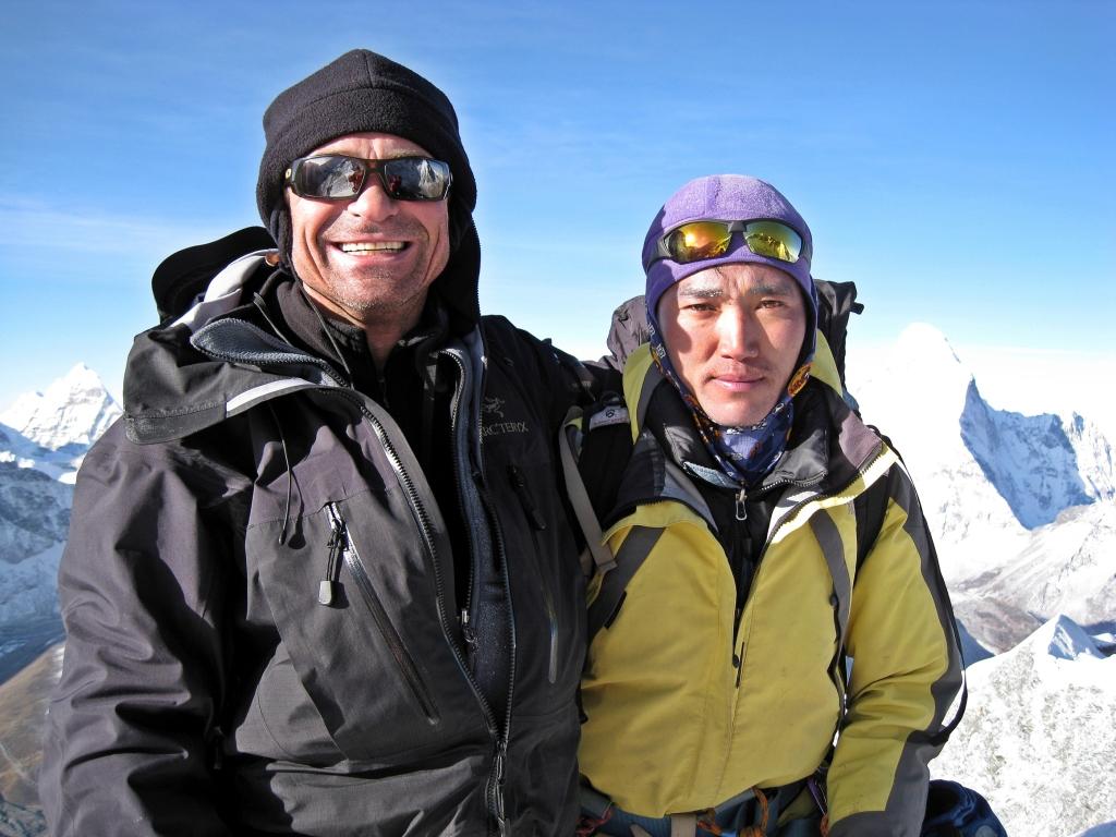 Richard and Ngima, Island Peak Summit