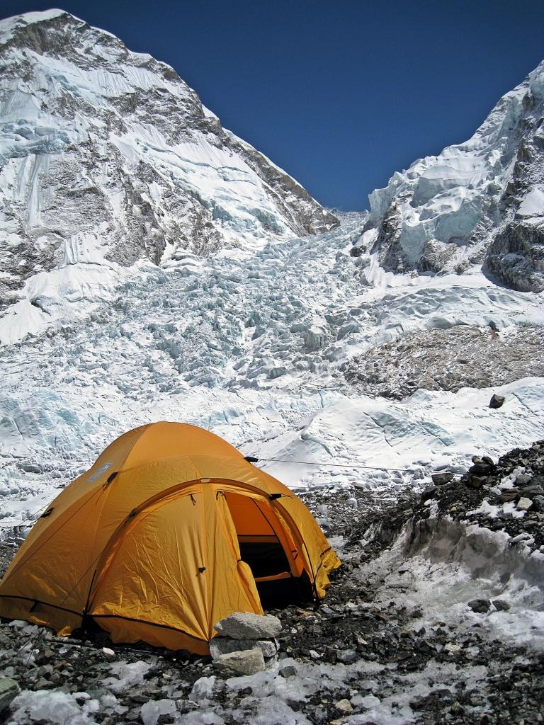 My tent, Everest Basecamp, Khumbu Icefall