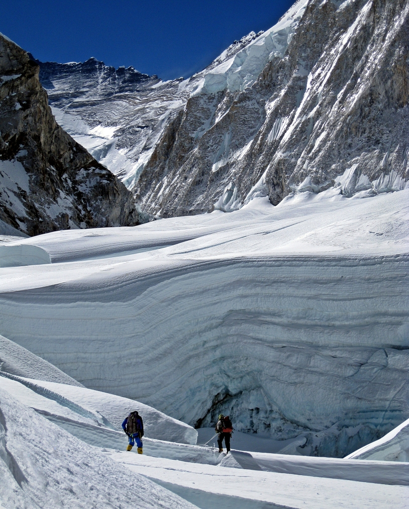 Near the top of Khumbu Icefall and start of Western Cwm