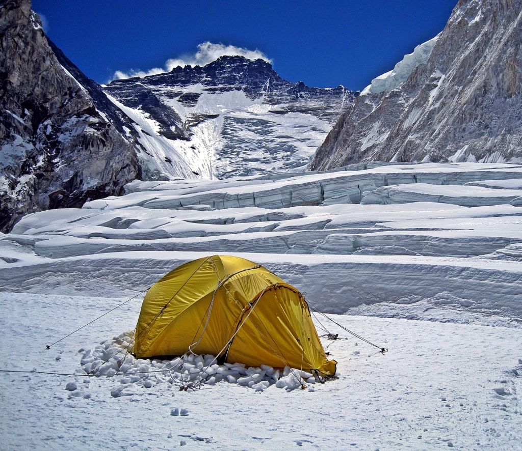 My tent, Camp I, Everest