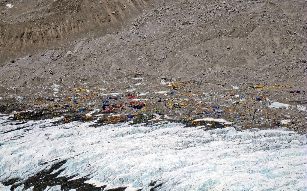 Everest Basecamp from Khumbu Icefall