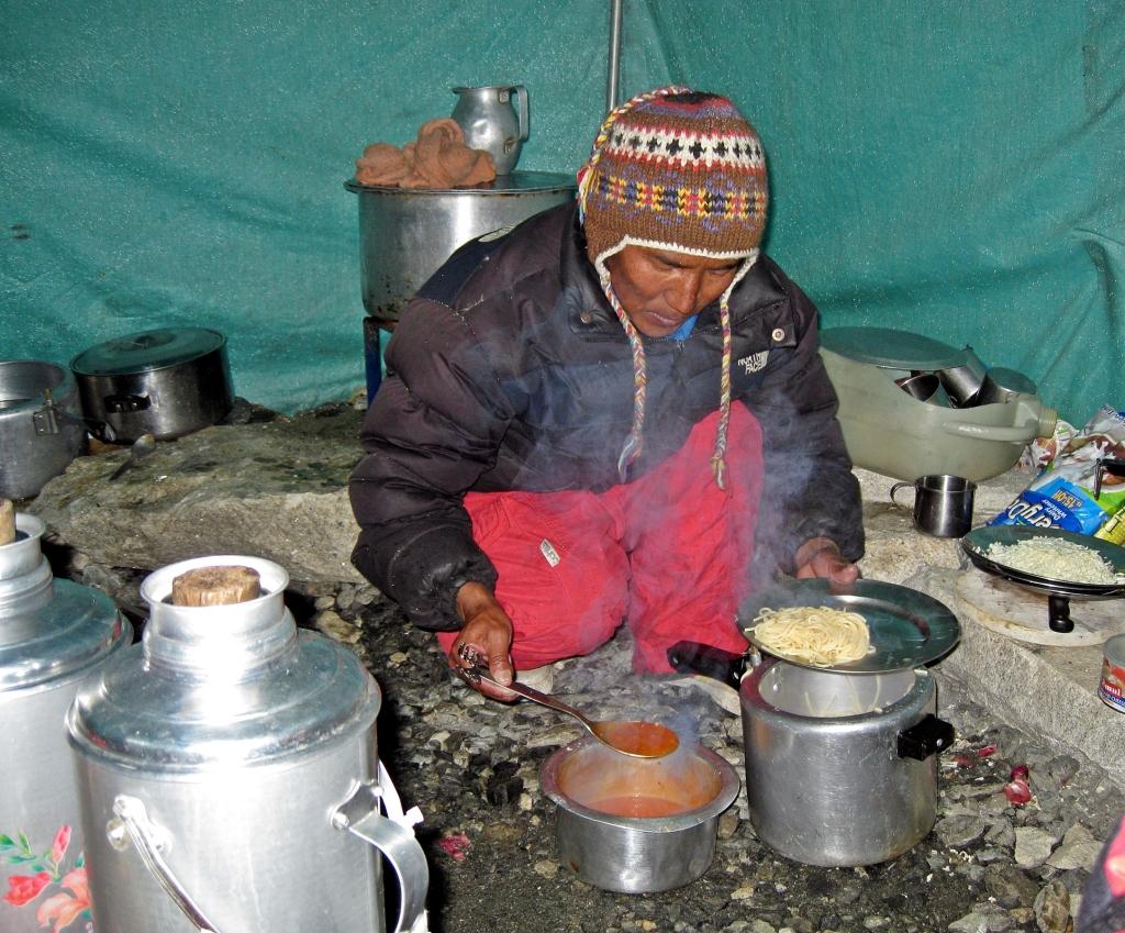 Camp II cook, Everest