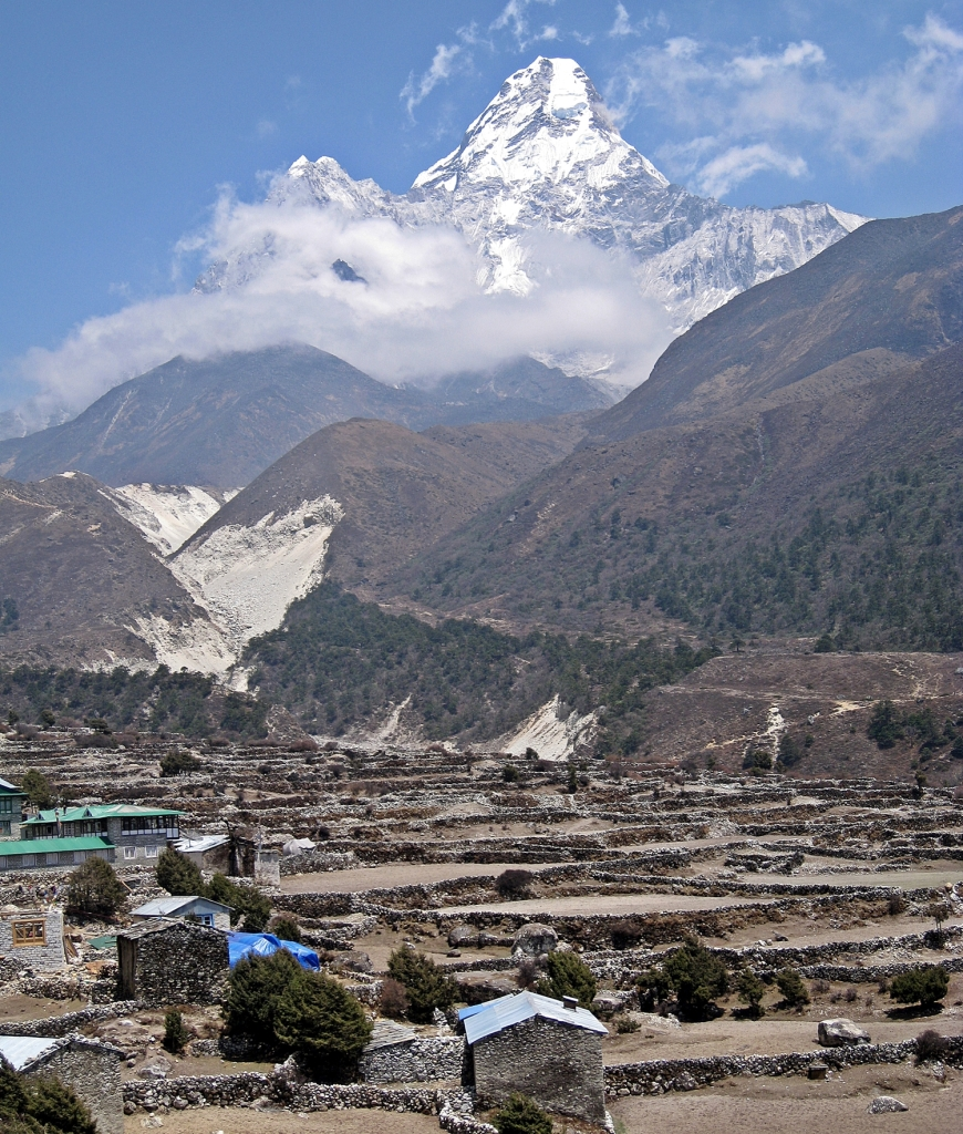 Pangboche in front of Ama Dablam