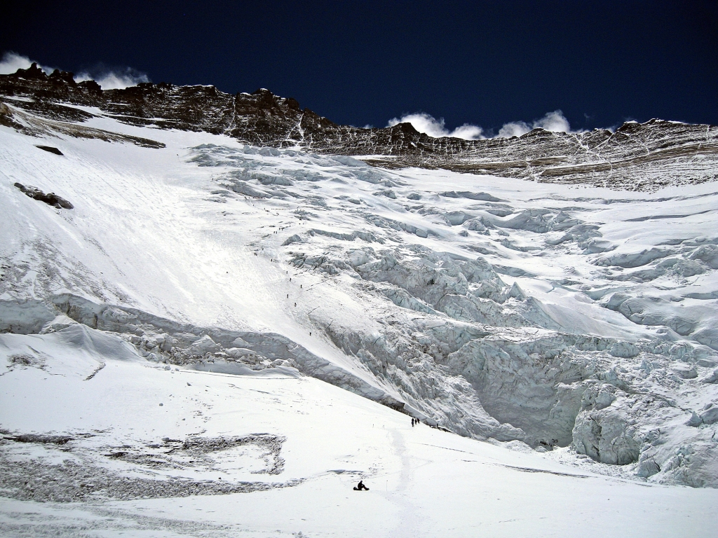 Climbers going up to Camp III, Everest