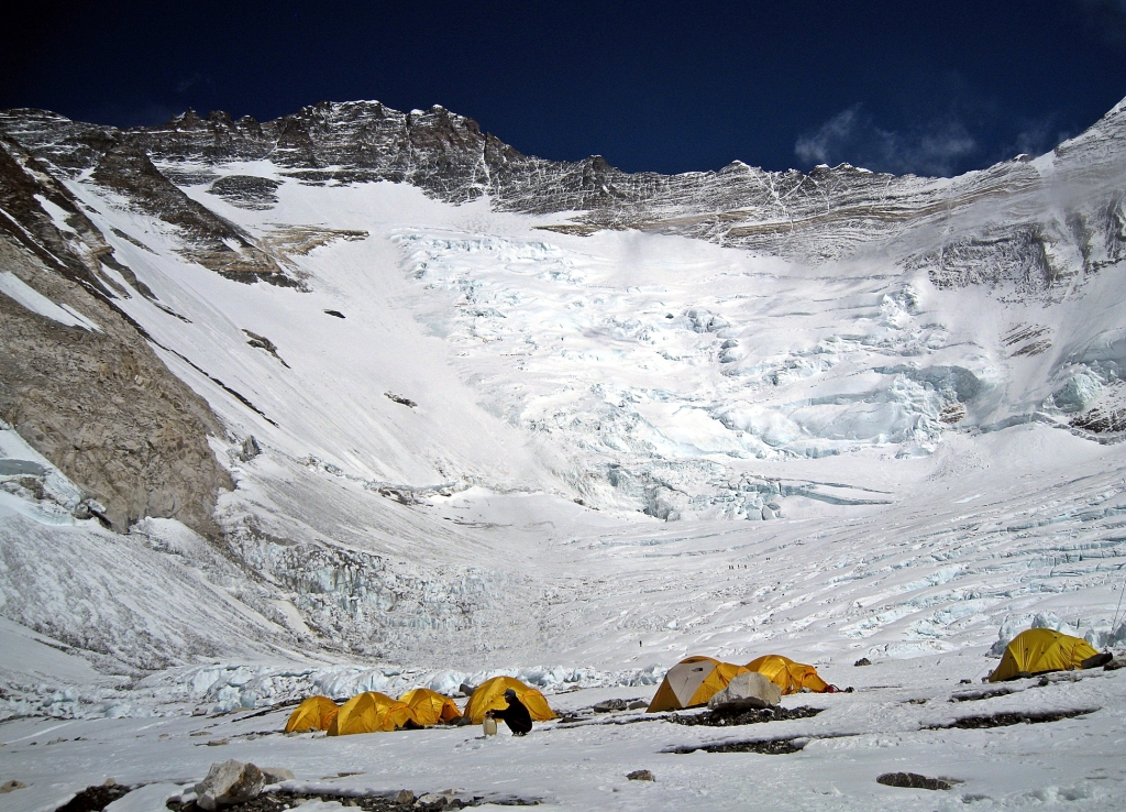 Camp II and Lhotse Face, Everest