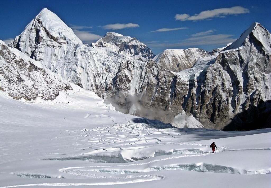 Looking toward Camp I, Western Cwm, Everest