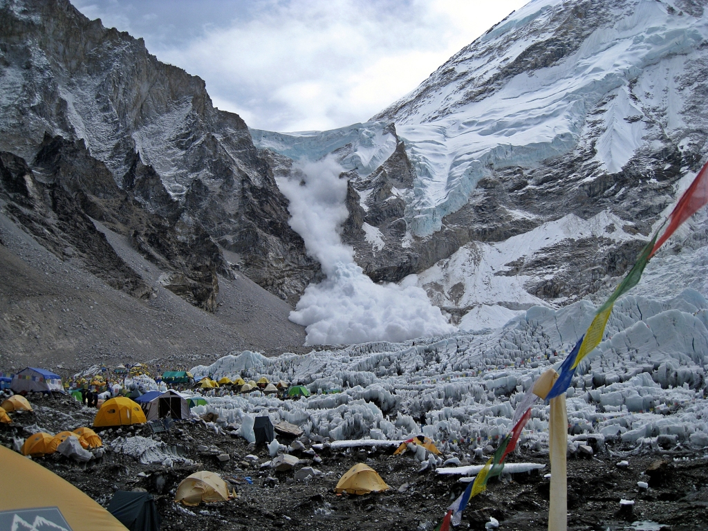 Avalanche, Camp I, Everest