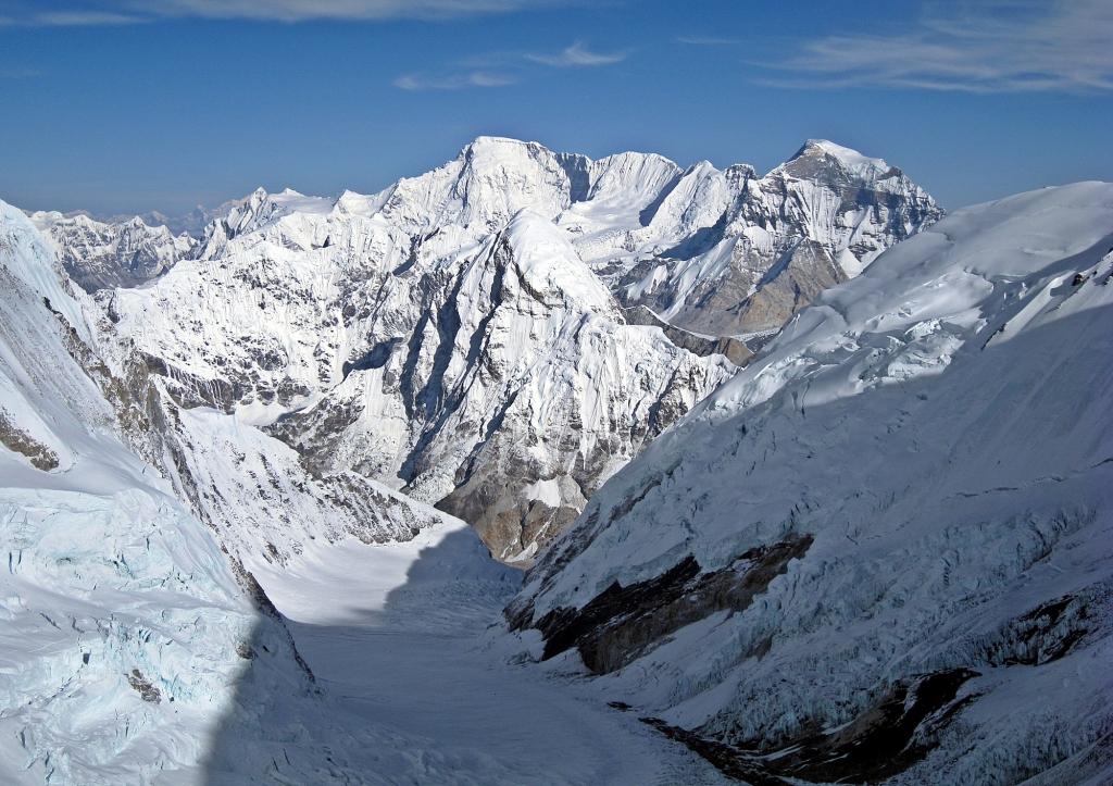 Cho Oyu and Pumori the next morning Camp III