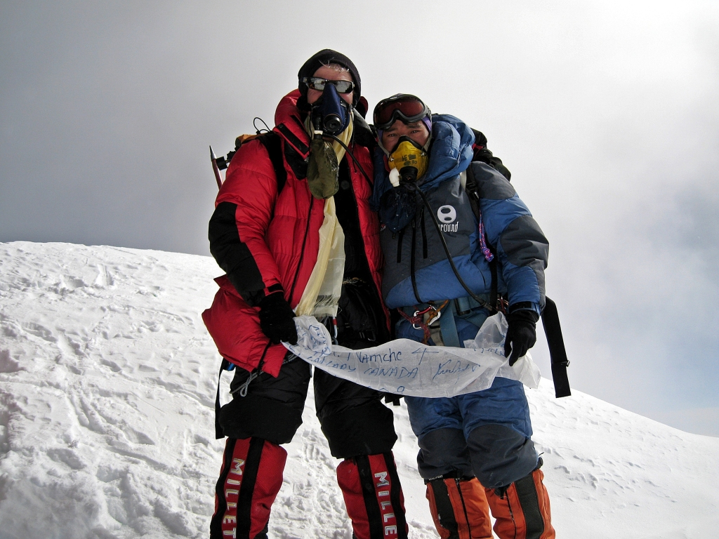 Ngima and Richard, Everest summit