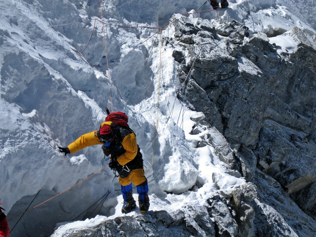 Ridge below Hillary Step, Everest
