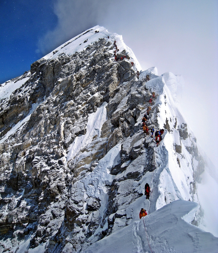 Summit Ridge with Hillary Step, Everest