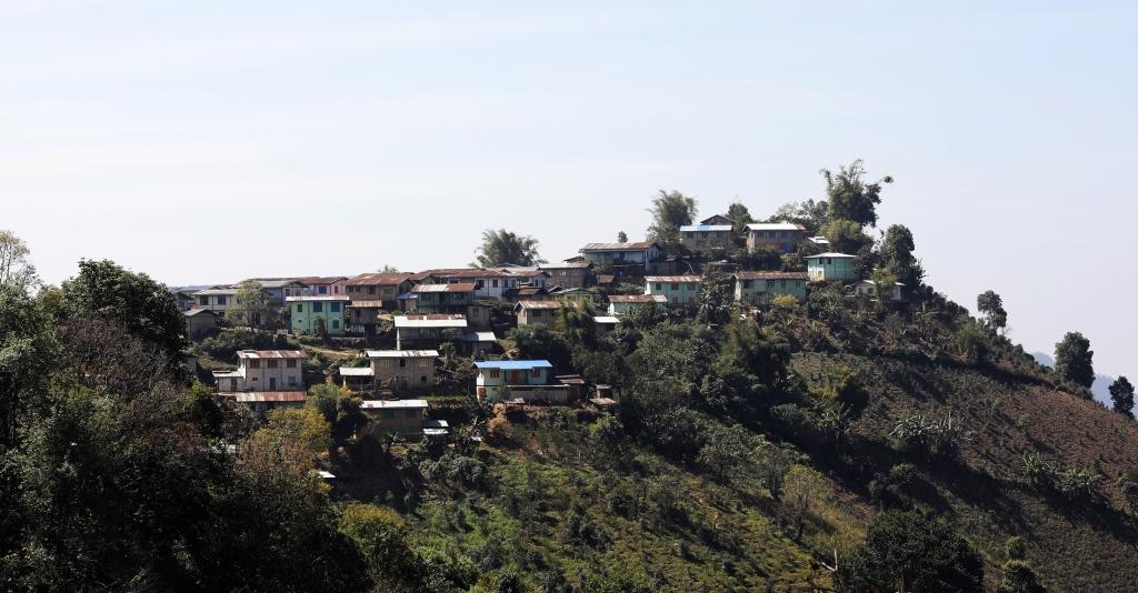 Village on the Kalaw to Inle trek
