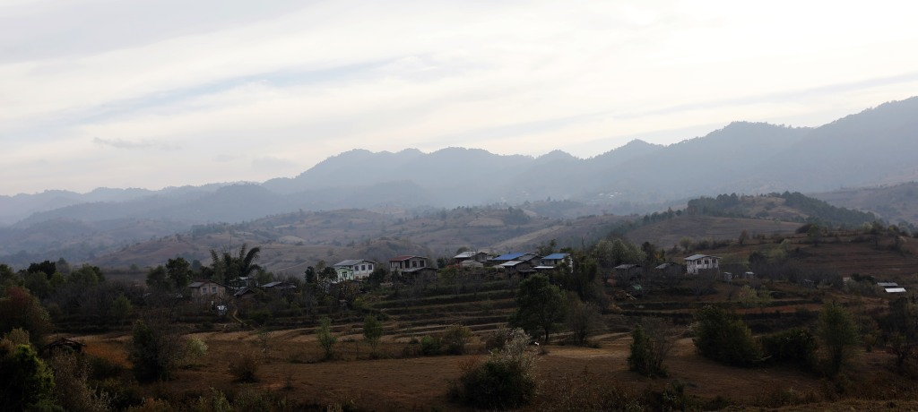 Ywarbu village for our first night, Kalaw to Inle trek