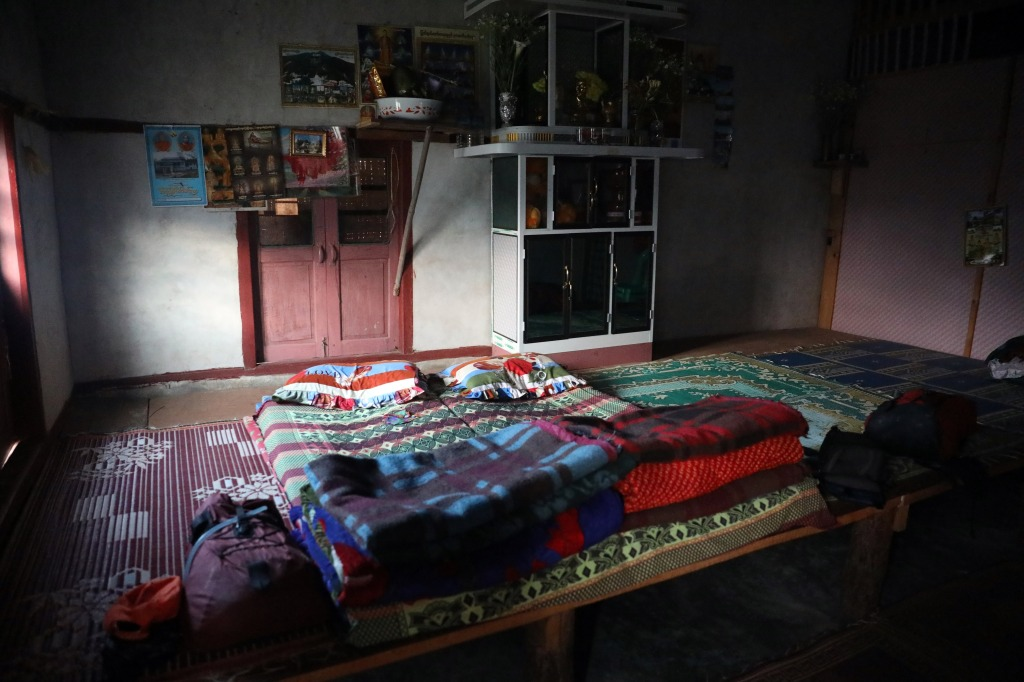 Main room in a village home, Kalaw to Inle trek