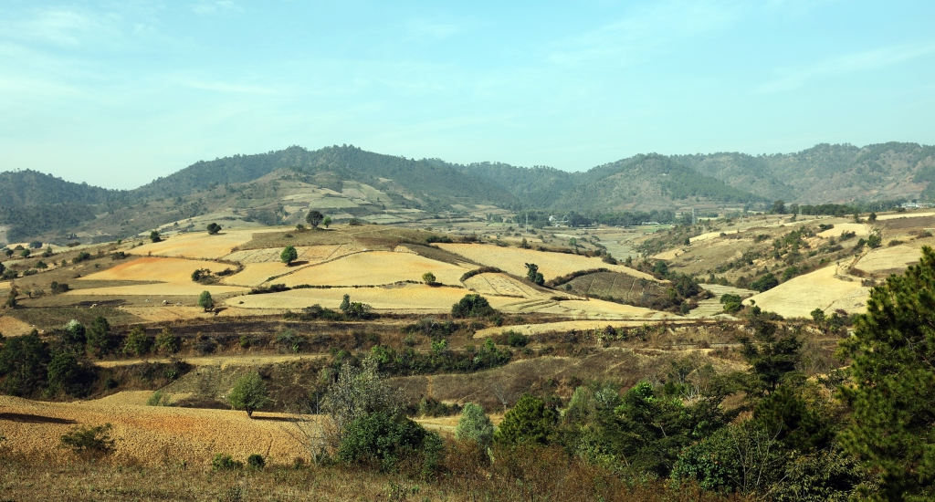 View on the Kalaw to Inle trek