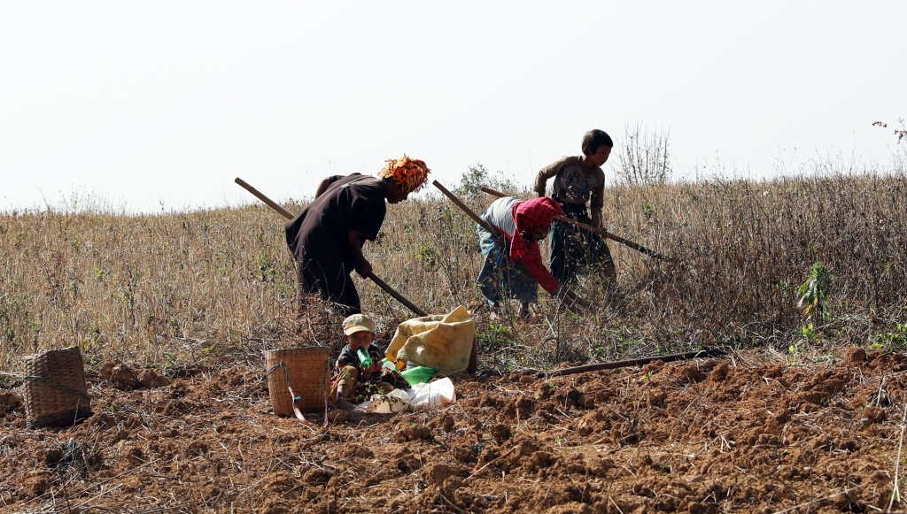 Farmers, Kalaw to Inle trek