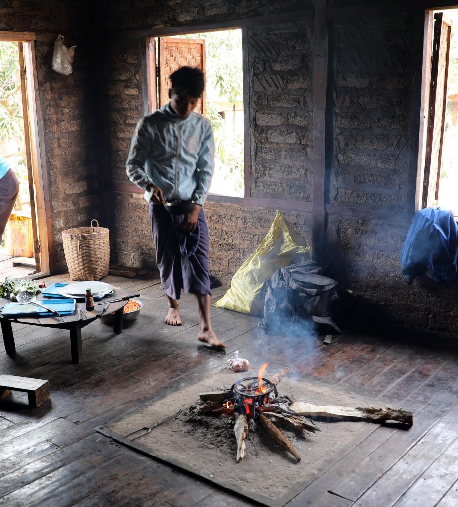 Homestay kitchen, Kalaw to Inle trek