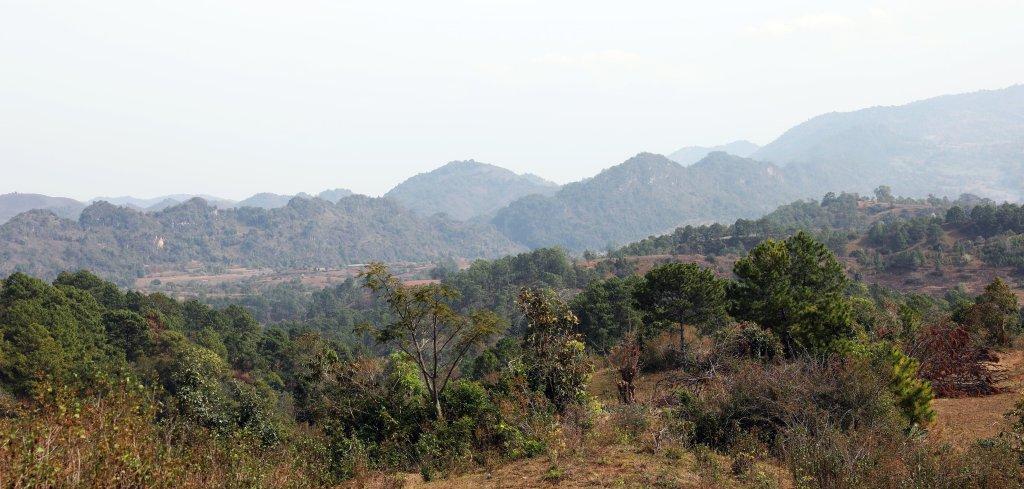 View on Kalaw to Inle trek