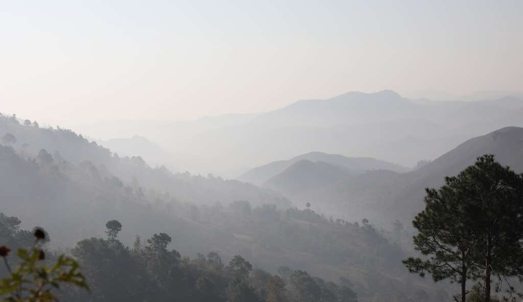 Misty morning, Kalaw to Inle trek