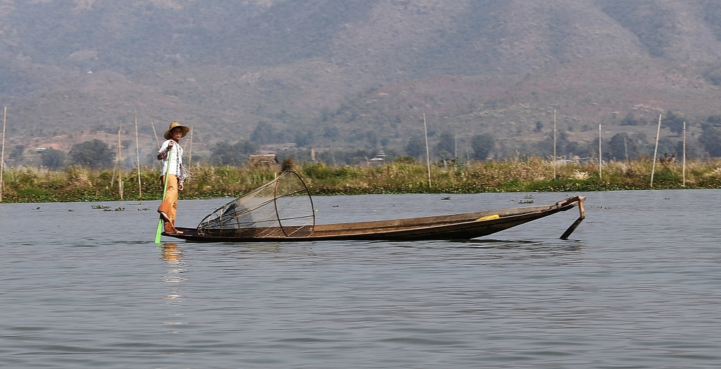 Basket fisherman, Inle Lake