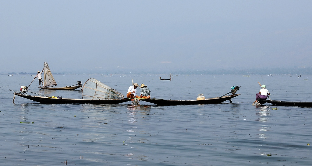 Basket fishermen, Inle Lake