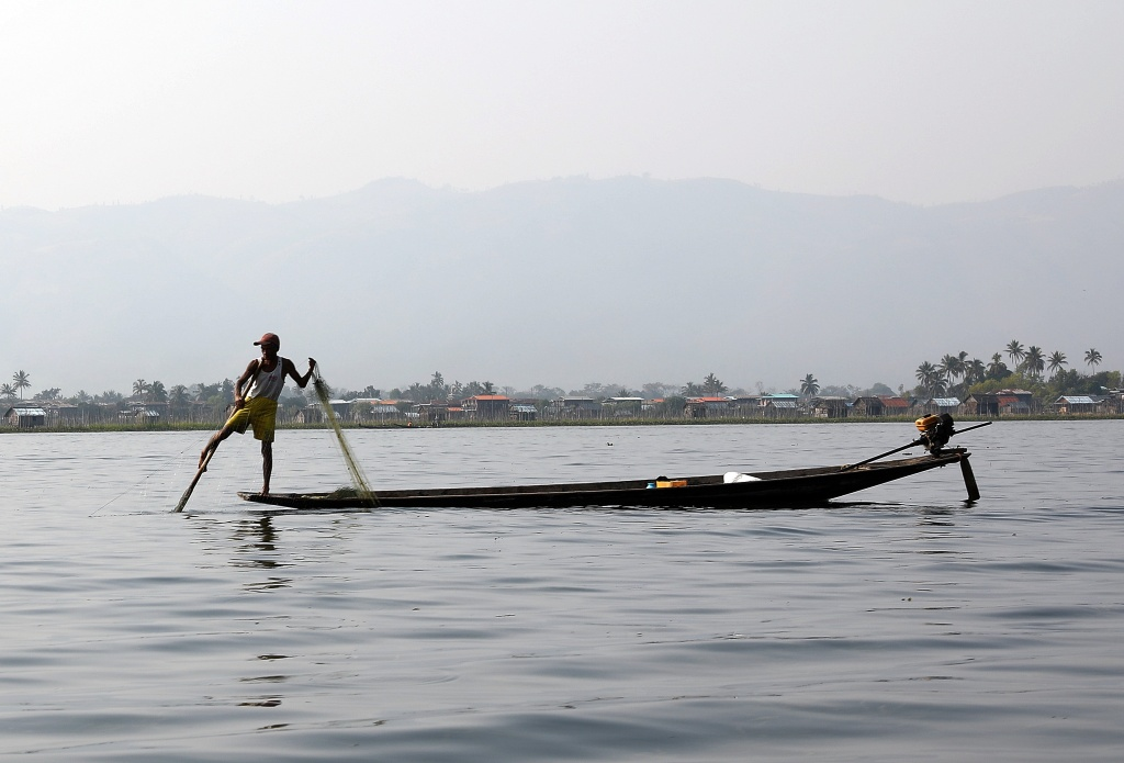 Net fisherman, Inle Lake