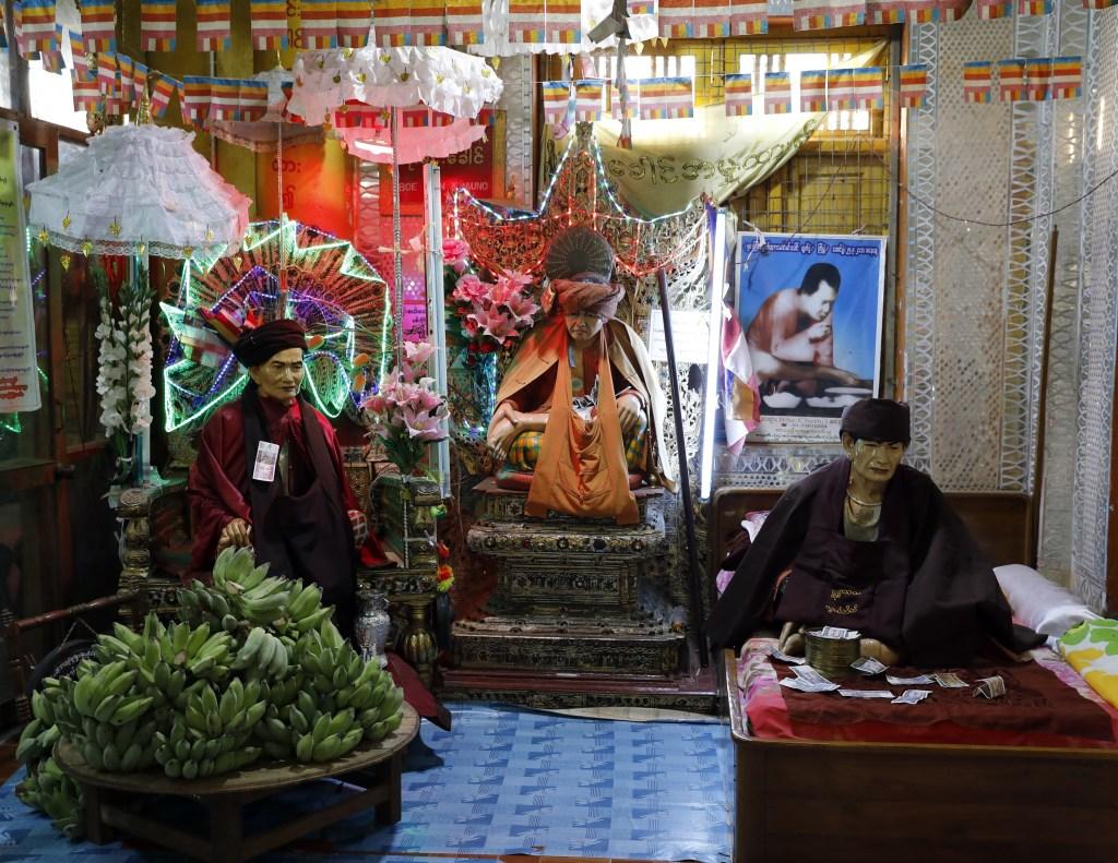 Nat spirit statues, Mt. Popa, Myanmar