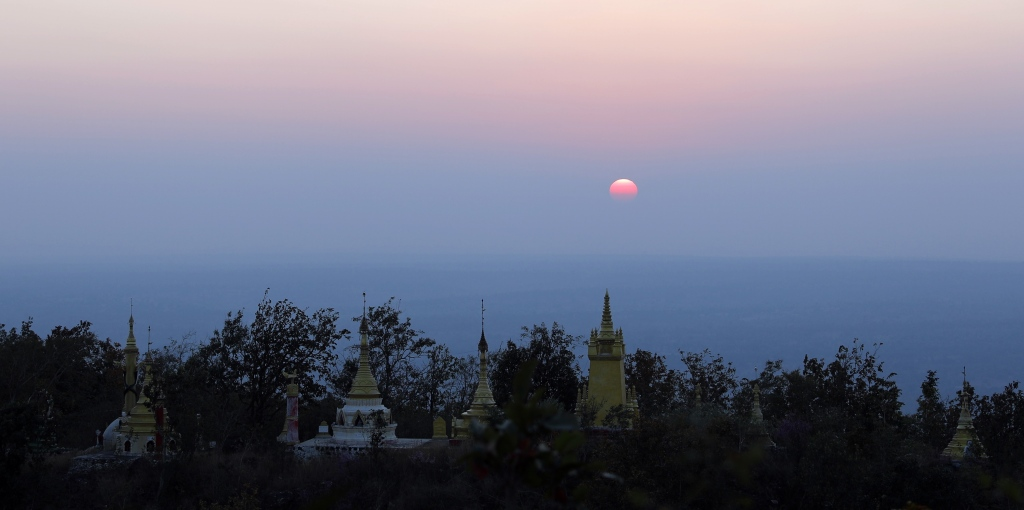 Sunset from Mt. Popa, Myanmar