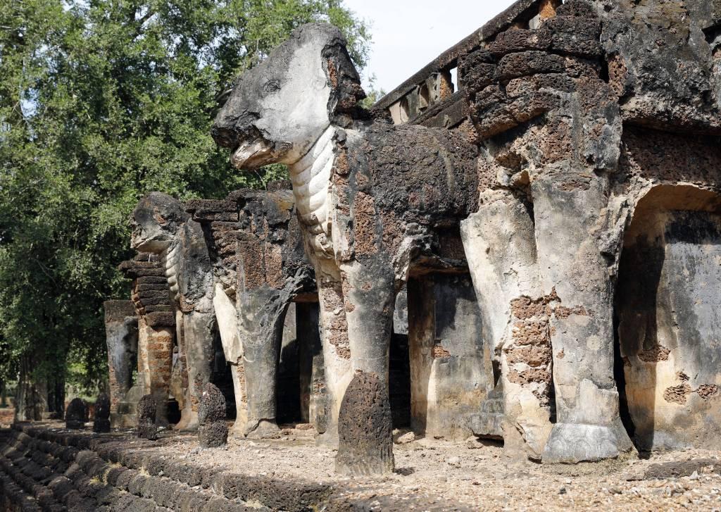 Elephants at Wat Chang Lom, Si Satchanalai