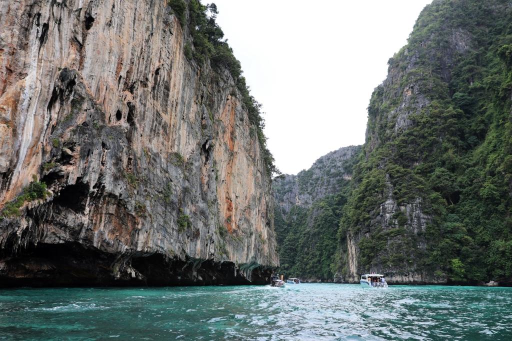 Hidden cove on Phi Phi Leh