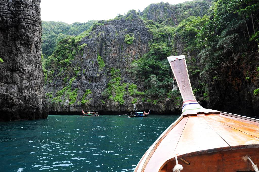 Hidden cove on Phi Phi Don