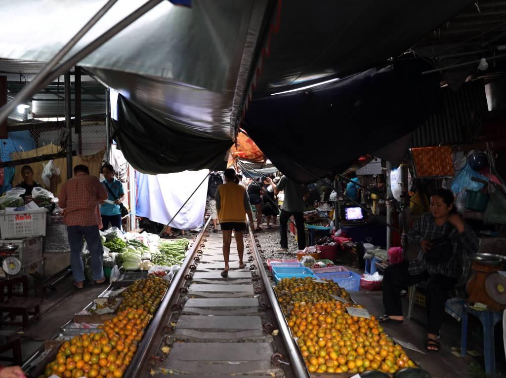 Train tracks, Maeklong Train Market