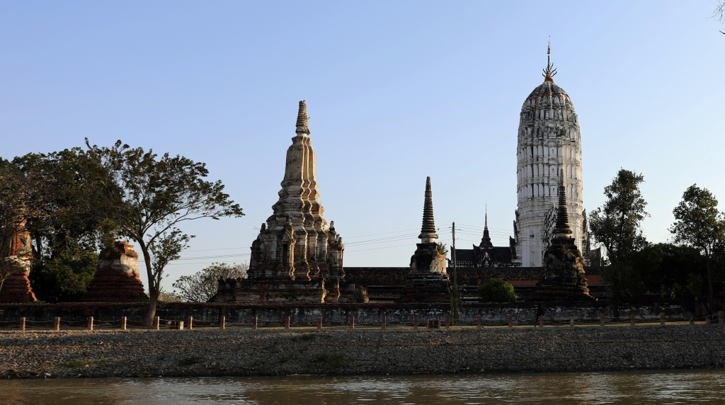 Ruins along the Chao Phraya River, Ayutthaya