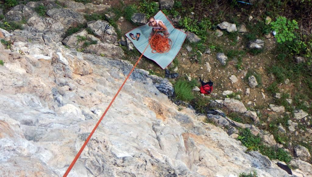 Climbing Tonsai Tower, Phi Phi
