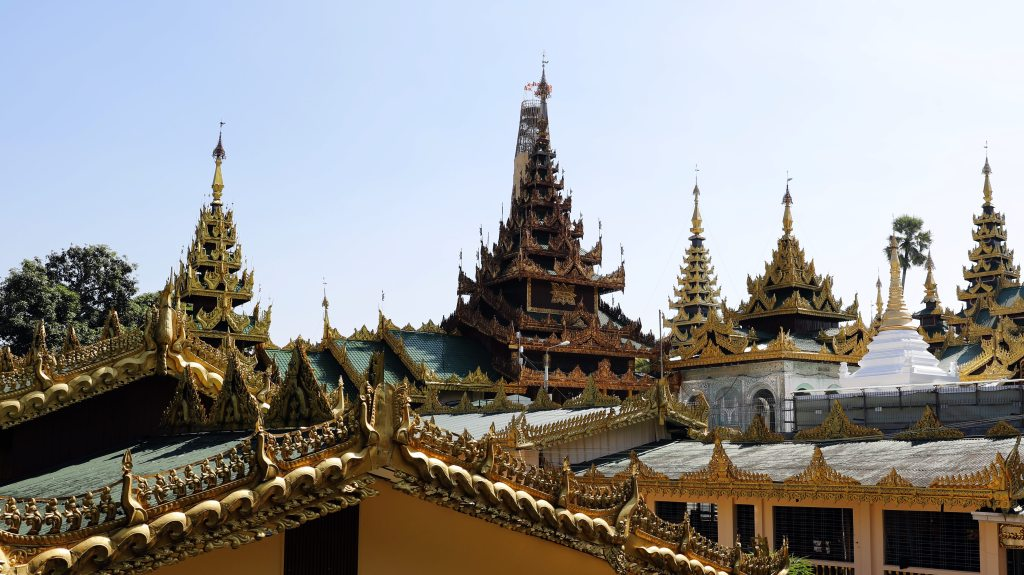 Rooves of Shwedagon Pagoda Complex