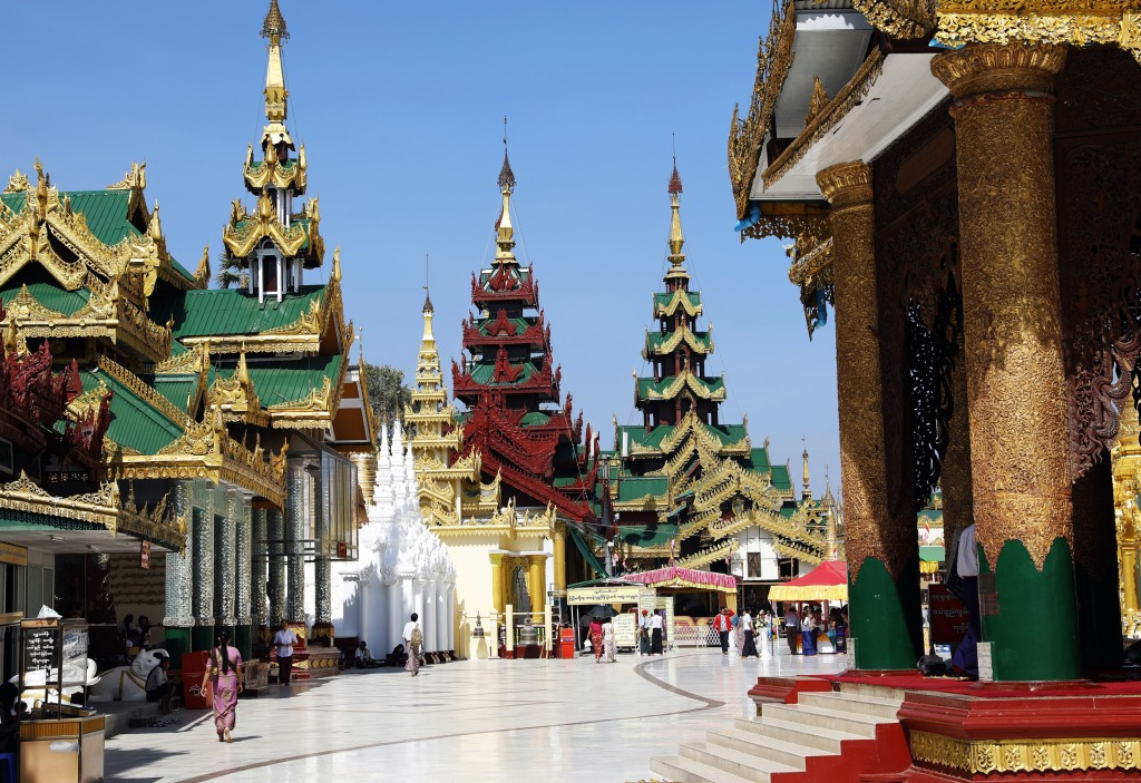 Plaza at Shewdagon Pagoda, Yangon