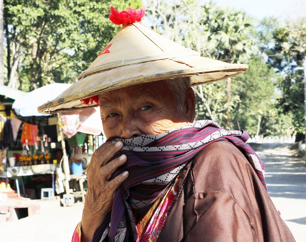 Old Burmese woman in Bago