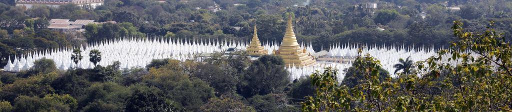 Kuthodaw Pagoda from Mandalay Hill