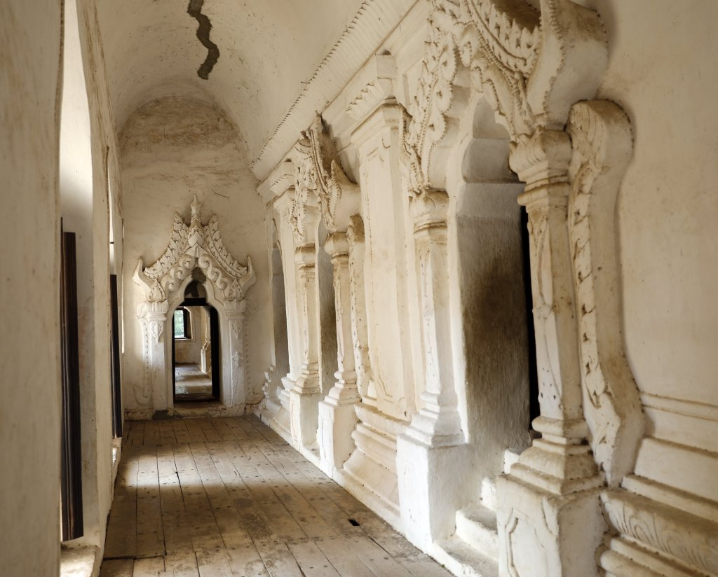 Inside the Maha Aungmya Bonzan monastery