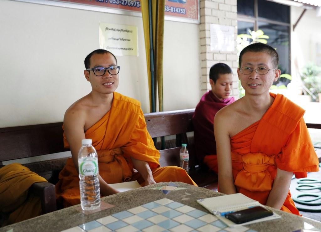 Monks at 'Monk Chat', Chiang Mai