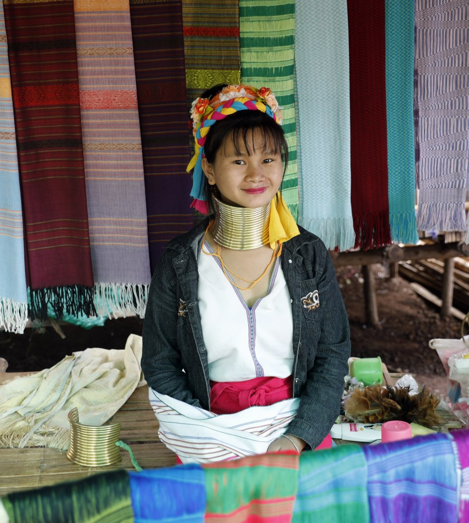 Long-Neck Karen Hilltribe Lady, Northern Thailand