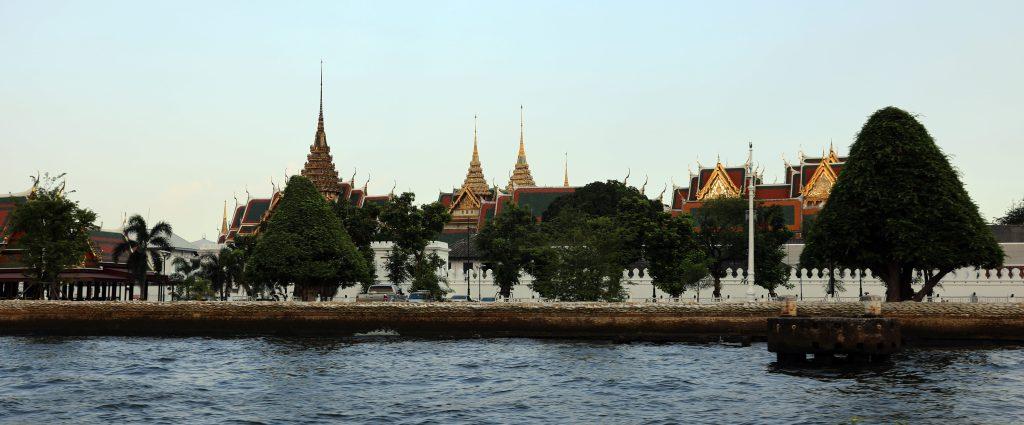 Grand Palace from Chao Phraya River, Bangkok