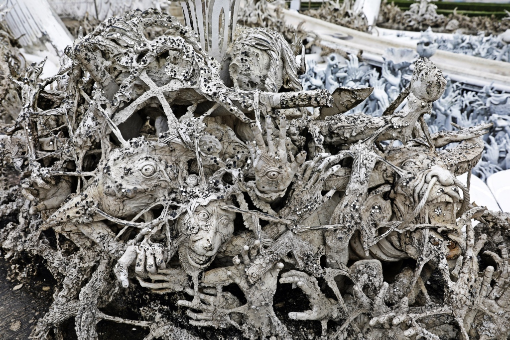 Hands from hell, White Temple, Chiang Rai